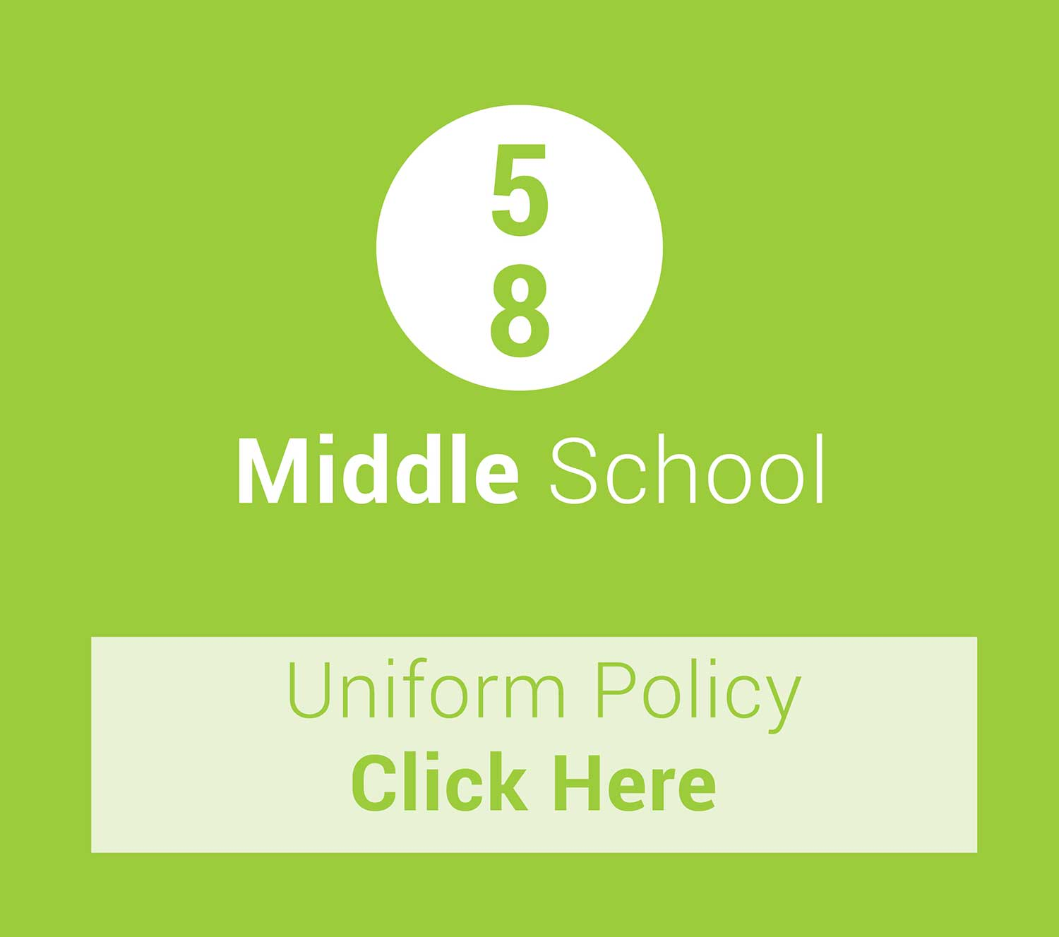 middle school uniform policy charlton christian college